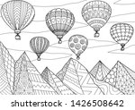 line art drawing of beautiful... | Shutterstock .eps vector #1426508642