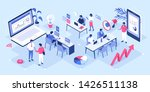 people in coworking office... | Shutterstock .eps vector #1426511138