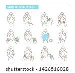 girl use different skin... | Shutterstock .eps vector #1426516028