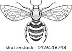 hand drawn honey bee in... | Shutterstock .eps vector #1426516748