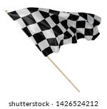 Black White Race Chequered Or...