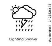 icon of thunderstorm in line... | Shutterstock .eps vector #1426526678