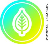 natural leaf circular icon with ... | Shutterstock .eps vector #1426548392