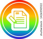 writing document circular icon... | Shutterstock .eps vector #1426550522