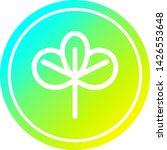 natural leaf circular icon with ... | Shutterstock .eps vector #1426553648