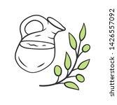 herbal ice tea jar color icon.... | Shutterstock .eps vector #1426557092