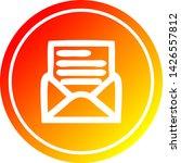 envelope letter circular icon... | Shutterstock .eps vector #1426557812