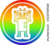 dancing robot circular icon... | Shutterstock .eps vector #1426558568