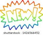 rainbow gradient line drawing... | Shutterstock .eps vector #1426566452