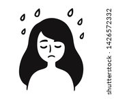depression and sadness  young... | Shutterstock .eps vector #1426572332