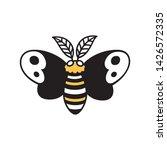 cartoon moth drawing  simple... | Shutterstock .eps vector #1426572335