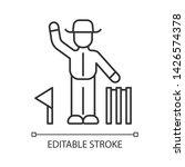 cricket judge linear icon.... | Shutterstock .eps vector #1426574378