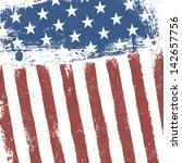 american flag grunge background.... | Shutterstock . vector #142657756