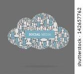 social media concept. cloud... | Shutterstock . vector #142657762