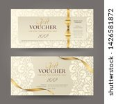 set of luxury gift vouchers... | Shutterstock .eps vector #1426581872