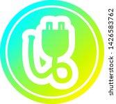 electrical plug circular icon... | Shutterstock .eps vector #1426583762