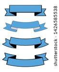 set of blue ribbon banner icon...   Shutterstock .eps vector #1426585538