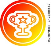 trophy cup circular icon with... | Shutterstock .eps vector #1426585652