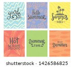 summer theme typography with... | Shutterstock .eps vector #1426586825