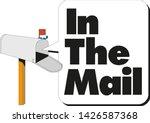 open white mailbox. cartoon... | Shutterstock .eps vector #1426587368