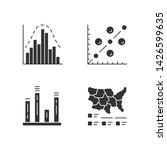 diagrams glyph icons set.... | Shutterstock .eps vector #1426599635