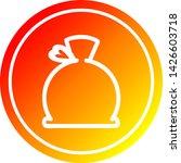 bulging sack circular icon with ... | Shutterstock .eps vector #1426603718