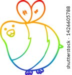 rainbow gradient line drawing... | Shutterstock .eps vector #1426605788