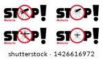 stop malaria no mosquito bite... | Shutterstock .eps vector #1426616972