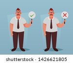 manager holding right and wrong ... | Shutterstock .eps vector #1426621805