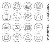 web icons set. web design icon. ... | Shutterstock .eps vector #1426633802