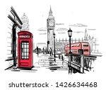 hand drawn landscape of london... | Shutterstock .eps vector #1426634468