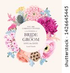 vector vintage card with pink... | Shutterstock .eps vector #1426645445