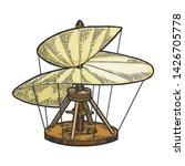 medieval helicopter model color ... | Shutterstock .eps vector #1426705778