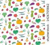 seamless pattern with cartoon... | Shutterstock .eps vector #1426705862