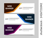 abstract vector banner.modern... | Shutterstock .eps vector #1426721042