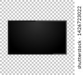 tv screen on a isolated... | Shutterstock . vector #1426723022