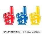 number 1 fan  hand glove  a... | Shutterstock . vector #1426723538