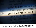 wild card word in a dictionary. ... | Shutterstock . vector #1426725725