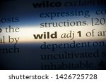 wild word in a dictionary. wild ... | Shutterstock . vector #1426725728