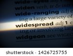 widespread word in a dictionary.... | Shutterstock . vector #1426725755