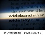 wideband word in a dictionary.... | Shutterstock . vector #1426725758