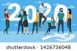 flat design new year vector... | Shutterstock .eps vector #1426736048