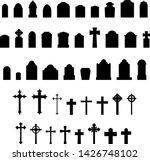 gravestones tombstones... | Shutterstock .eps vector #1426748102