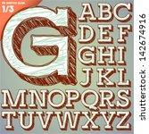 sketch alphabet. vector...   Shutterstock .eps vector #142674916