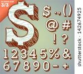 sketch alphabet. vector... | Shutterstock .eps vector #142674925