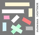 different color adhesive tape... | Shutterstock .eps vector #1426750658