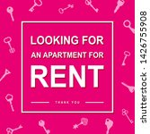 looking for an apartment for...