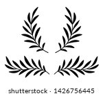 black hand drawn olive branches ... | Shutterstock . vector #1426756445