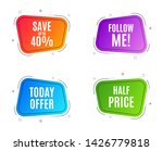 geometric banners. save up to... | Shutterstock .eps vector #1426779818