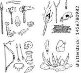 set of tools of primitive man.... | Shutterstock .eps vector #1426780982